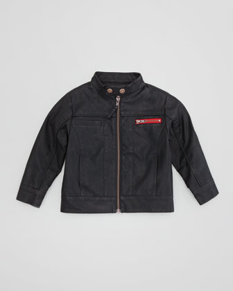 Appaman Route 1 Faux-Leather Moto Jacket