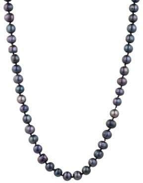 Carolee 8mm Black Freshwater Pearl Single-Strand Necklace