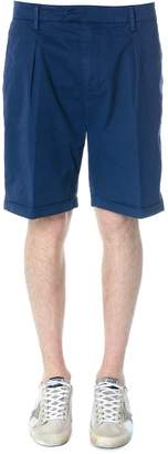 Dondup Blu Classic Shorts In Cotton