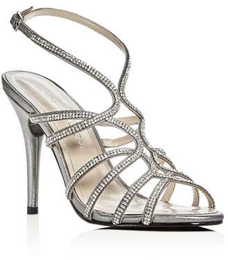 Caparros Helena Embellished Satin High-Heel Sandals