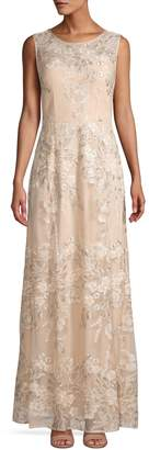 Alex Evenings Embroidered Sequin Gown