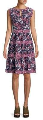 MICHAEL Michael Kors Tiered Blooms Fit-&-Flare Dress