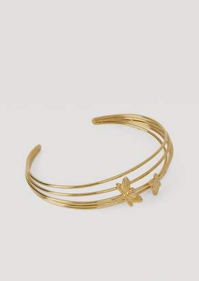 Emporio Armani Spiral Bangle Bracelet With Dragonflies