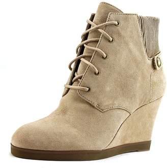 MICHAEL Michael Kors Carrigan Wedge Knit Cuff Lace Up Ankle Boots, Dark Khaki, 10 US / 41 EU