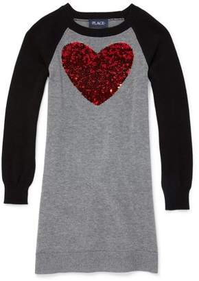 Children's Place The Childrens Place Valentine's Day Heart Sweater Dress (Little Girls & Big Girls)