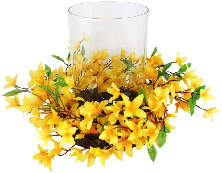 Sonoma Goods For Life SONOMA Goods for Life Artificial Forsythia Hurricane Candle Holder