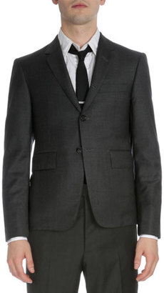 Thom Browne Classic Two-Piece Wool Suit, Dark Gray $2,255 thestylecure.com