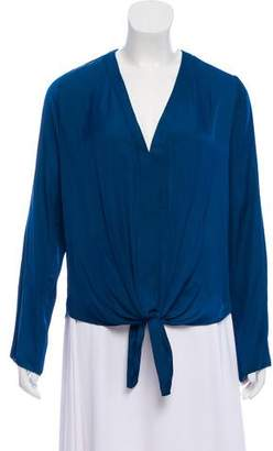 Alexis Long Sleeve Tied Blouse