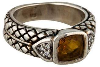 Scott Kay Citrine & Diamond Ring
