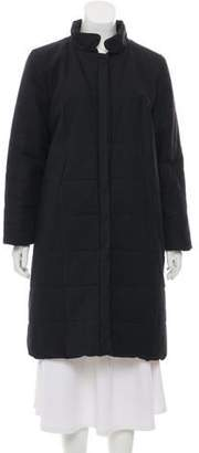 Les Prairies de Paris Quilted Knee-Length Coat