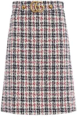 Gucci Tweed A-line Gg Skirt