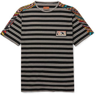 Missoni Printed Cotton-Jersey T-Shirt - Black