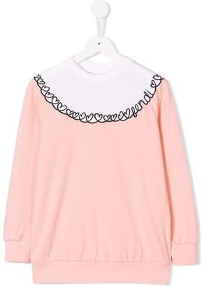 Fendi heart embroidered sweatshirt