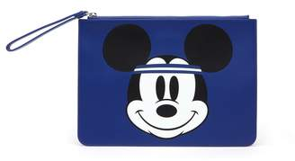 Lacoste Women's Disney Holiday Collector Mickey Print Leather Zip Pouch