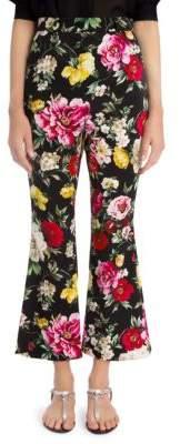 Dolce & Gabbana Floral Flare-Leg Pants