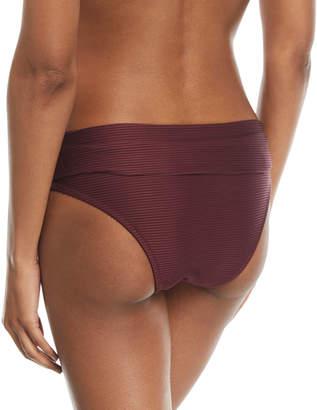 Heidi Klein Monaco Fold-Over Pintucked Swim Bikini Bottoms