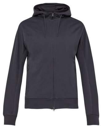 Y-3 Y 3 Zip Through Cotton Hooded Sweatshirt - Mens - Grey