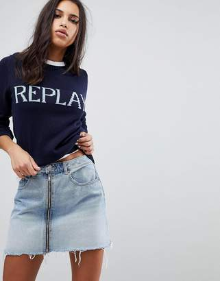 Replay Knitted Logo Sweater