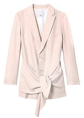 Tibi Women's Long Linen Suiting Blazer