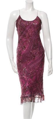 Vera Wang Sequin Embellished Silk Dress $155 thestylecure.com