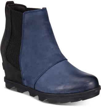 Sorel Women Joan of Arctic Wedge Ii Waterproof Chelsea Booties Women Shoes