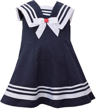 Bonnie Jean sleeveless nautical collar a line Dress - Baby Girls $50 thestylecure.com