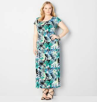Avenue Tropical Leaf Maxi Dress