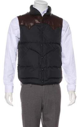 Co RRL & Leather-Accent Puffer Vest