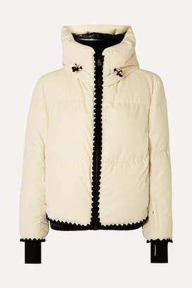 Moncler Emet Quilted Velvet Down Jacket - White