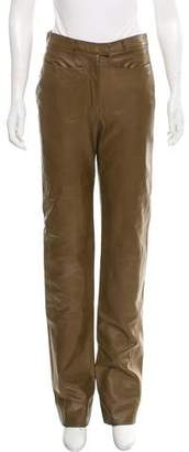 Ralph Rucci Mid-Rise Leather Pants