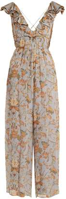 Zimmermann Painted Heart floral-print silk jumpsuit