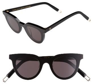 Women's Gentle Monster Eye Eye 45Mm Cat Eye Sunglasses - Black $250 thestylecure.com