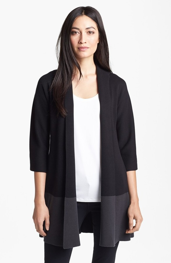 Eileen Fisher Colorblock Silk & Cotton Jacket