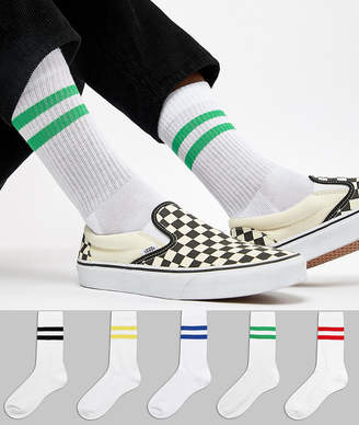 Asos DESIGN sports style socks 5 pack