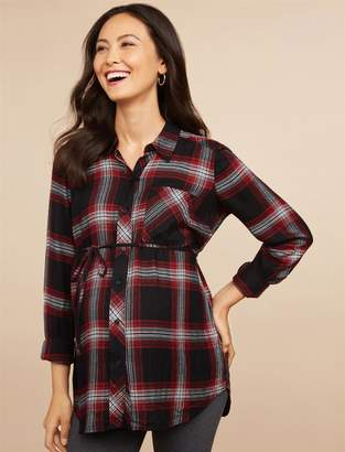Motherhood Maternity Button Front Maternity Tunic