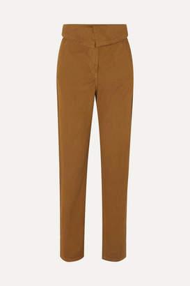 Vanessa Bruno Marx Stretch Cotton-twill Tapered Pants - Mustard