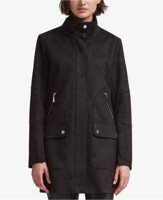 DKNY Stand-Collar Coat