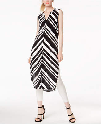 Bar III Printed Side-Slit Tunic, Created for Macy's