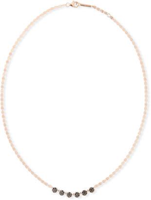 Lana 14k Reckless Black Diamond Disc Necklace