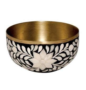 Mela Artisans Imperial Beauty Nut Bowl in Black & White