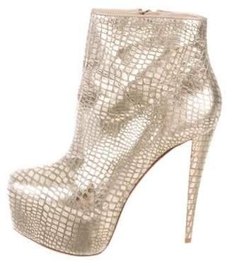 Alice + Olivia Platform Embossed Ankle Boots
