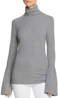 Paige Kenzie Bell-Sleeve Turtleneck Sweater