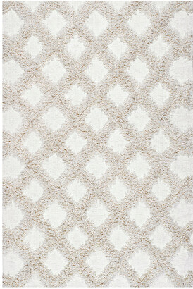 nuLoom Francene Diamond Trellis Shaggy Machine-Made Synthetic Solid Rug