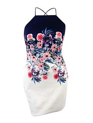 GUESS Women's Floral Printed Apron Dress