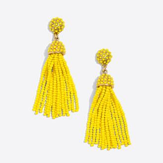 Dot drop tassel earrings $29.50 thestylecure.com
