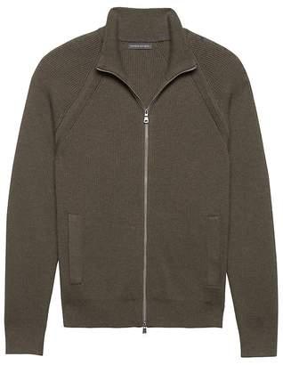 Banana Republic SUPIMA® Cotton Ribbed Full-Zip Sweater