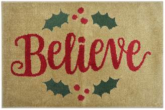 St Nicholas Square Supersoft Believe Holiday Rug - 24'' x 36''