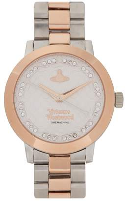 Vivienne Westwood Bloomsbury Silver And Rose Gold Tone Watch