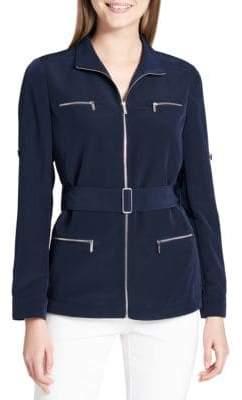 Calvin Klein Collared Belted Jacket