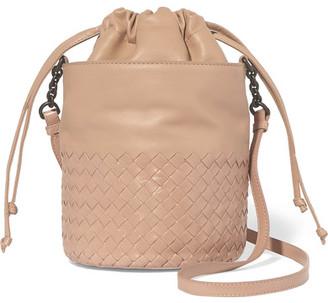 Bottega Veneta - Intrecciato Leather Bucket Bag - Beige $1,600 thestylecure.com